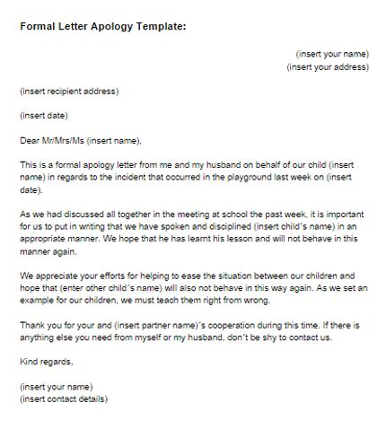 Apology Letter Informal Formal Letter Formal Letter Writing Template 11 Best Letters Images On Formal