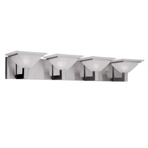 Portfolio Vanity Light Portfolio 4 Light Retro Brushed Nickel Bathroom Vanity Light Lowe S Canada