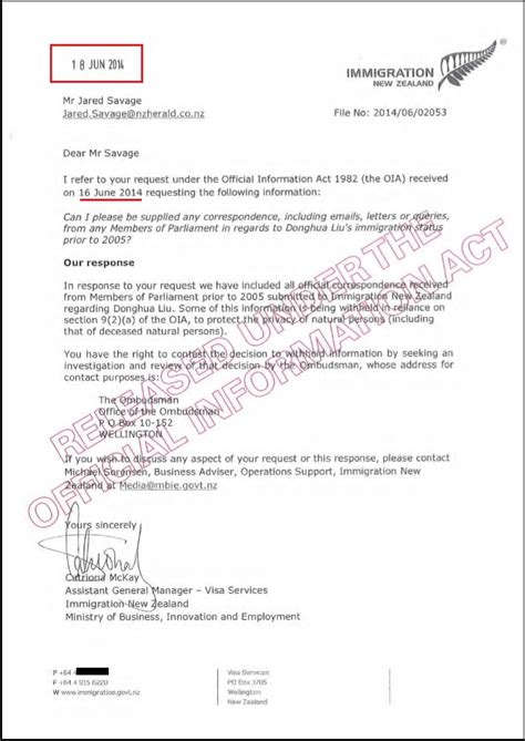 business letter format new zealand the donghua liu affair evidence of collusion between the
