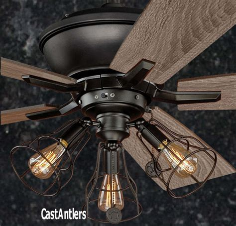 rustic ceiling fans with lights and remote standard size fans 52 quot edison rustic ceiling fan w