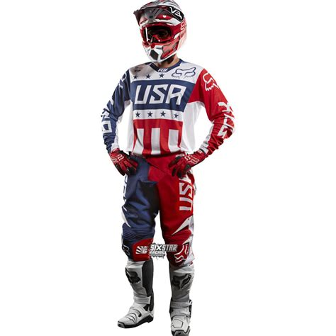 Fox 360 Mxon Blau Rot Patriot Team Usa Motocross Combo
