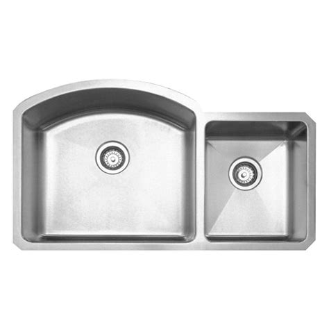 Brushed Stainless Steel Undermount Kitchen Sink Whitehaus Collection Noah S Collection Undermount Brushed Stainless Steel 36 7 8 In 0