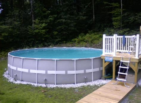 pool decks above ground pool decks images