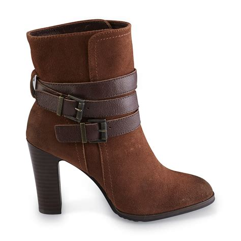 sears womens ankle boots s kalli leather ankle boot brown shop your way