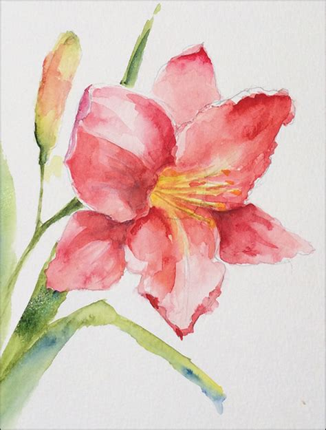 how to paint expressive lilies in watercolor