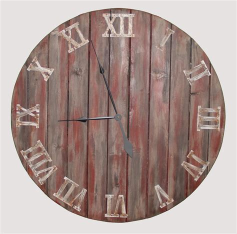 Handcrafted Wood Clocks - 20 36 farmhouse oversized wall clock handmade wooden