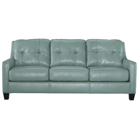 leather sleeper sofa contemporary leather match sofa sleeper by signature