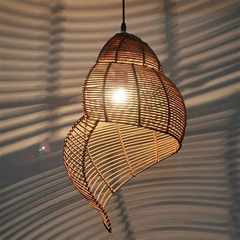 Handmade Rattan Plaited Vivipara Pendant Lighting 9214 Rattan Lights