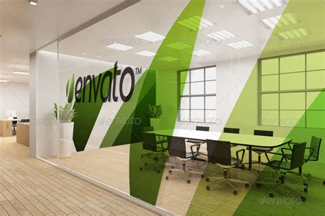 branding interior design office interior branding mockups by wutip graphicriver