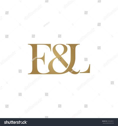 e l e l initial logo ampersand monogram golden logo stock