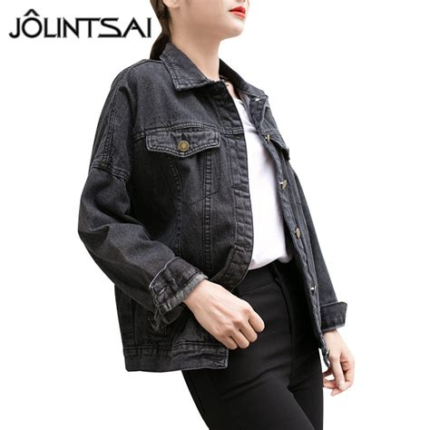 Jaket Denim Hoodie Wanita Basic Coats 2017 Vintage Sleeve Denim