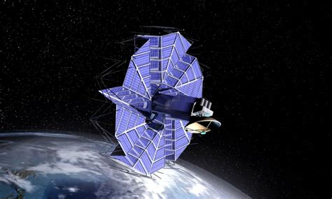 Origami Space Ship - nasa planning to send orbiting power plants to space that