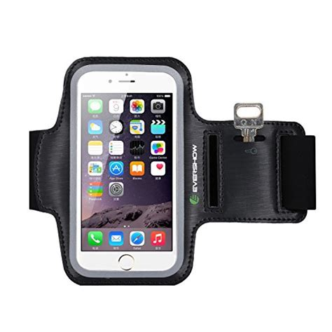 evershow iphone 6s armband premium water resistant sport armband for iphone 6 6s running