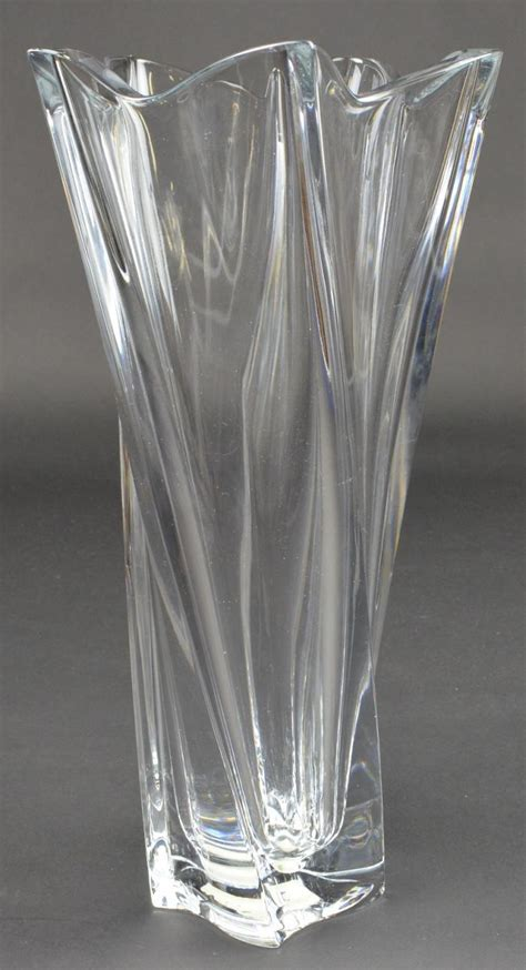 Mikasa Flower Vase by Mikasa Lead Pacific Wave Pattern Vt400 835