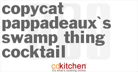 The Recipe Thing by Copycat Pappadeaux S Sw Thing Cocktail Recipe From