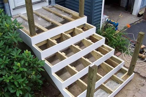 31 Ideas To Build Concrete deck concrete stoop home exterior curb appeal wooden steps decks and doors