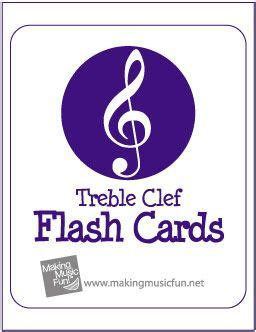 Treble And Bass Clef Flash Cards Printable