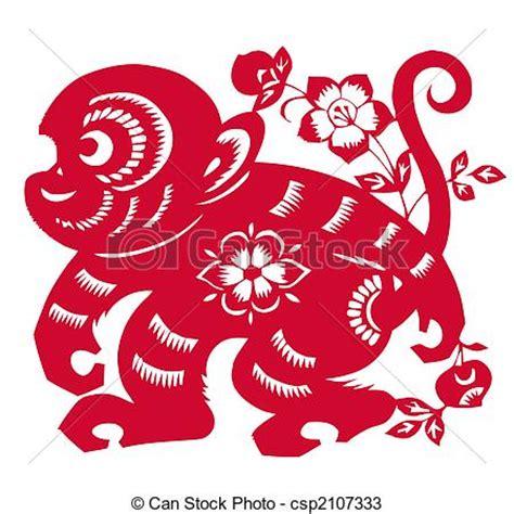 new year monkey border dessins de chinois zodiaque singe 233 e traditionnel