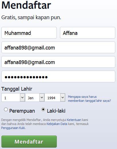 cara buat akun facebook suka cara membuat mendaftar akun facebook baru