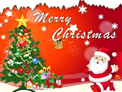 merry christmas santa claus christmas tree decorations greeting card  wallpaperscom