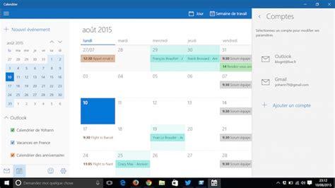 Calendrier Windows 10 Comment Synchroniser Vos Agendas Sous Windows 10