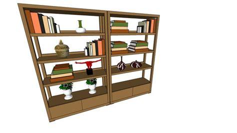 libreria sketchup sketchup components 3d warehouse bookshelf libreria