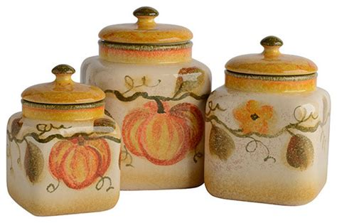 Farmhouse Kitchen Canister Sets And Zucca Canister Set Farmhouse Kitchen Canisters And