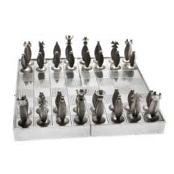 Art Deco Chess Set by Art Deco Polish Silver Traveling Chess Set At 1stdibs