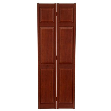Bifold Closet Doors 28 X 80 Home Fashion Technologies 28 In X 80 In 6 Panel Cherry Composite Interior Bi Fold Door