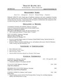 nursing resume exle sle and health care resumes