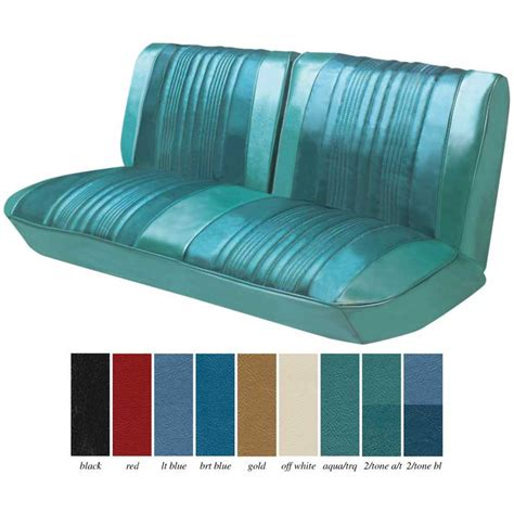 car seat upholstery kits 1968 chevrolet impala parts interior soft goods seat
