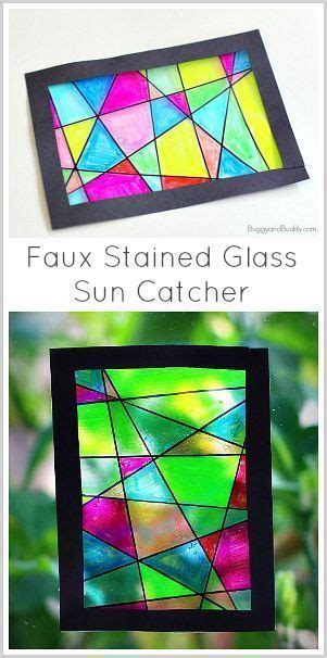 stained glass crafts for for glasses and classroom on