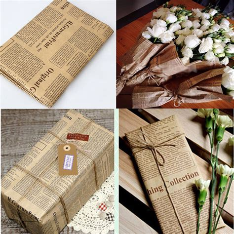 design home gift and paper newspaper decoration wrapping paper wrap gift wrap double