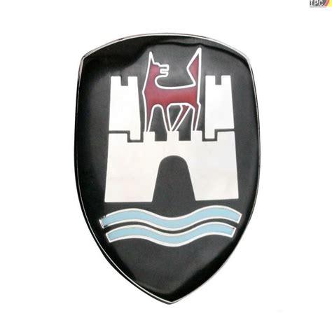 volkswagen wolfsburg emblem volkswagen bug beetle wolfsburg hood crest german 1958