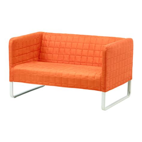 cheap ikea furniture knopparp 2 seat sofa orange ikea