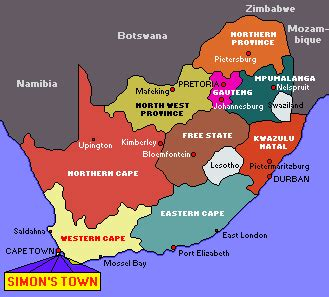 south africa map provinces and capitals map of south africa provinces and capitals