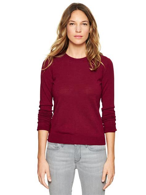 Sweater Gap Gap Merino Sweater In Cranberry Lyst