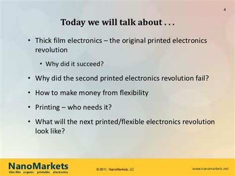 printable electronics flexibility for the future a future for printed and flexible electronics