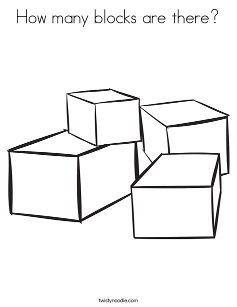 How Many Blocks Are There Coloring Page Twisty Noodle Block Coloring Pages