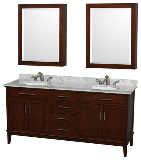 Oval Bathroom Vanity by Hatton 72 Quot Chestnut Vanity W White