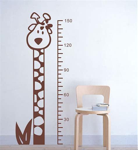 height wall sticker giraffe height measurement wall sticker wallstickerdeal