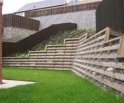 Concrete Crib Retaining Walls by Timbalok Timber Crib Retaining Wall Ruthin Precast