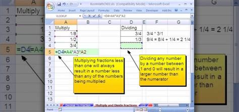 Offices Add Subtract by How To Multiply Divide Fractions Using Excel Key Points