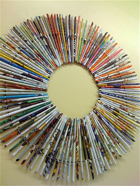 Recycling Paper Crafts - a look at paper reed frames totally green crafts