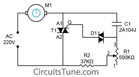 ceiling fan regulator motor speed circuit diagram