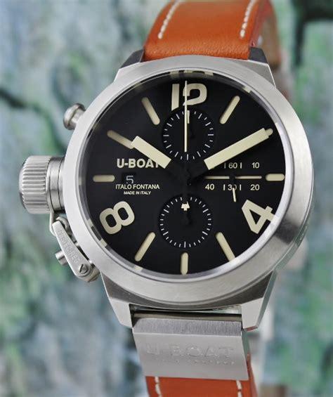 U Boat Italo Fontana Chrono Silver Leather Brown u boat hj jewellery singapore reliable pre owned rolex dealer