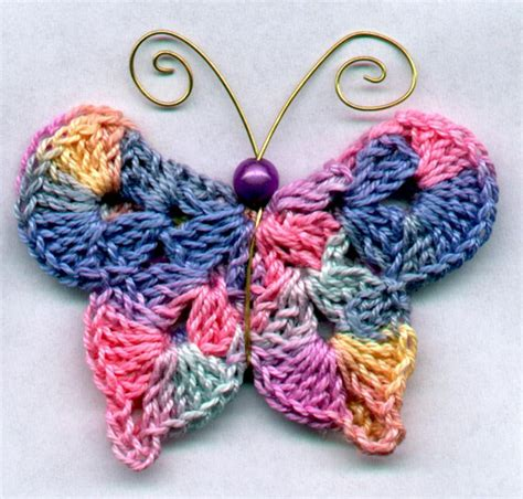 how to knit a butterfly crochet butterfly knitting crochet dıy craft free