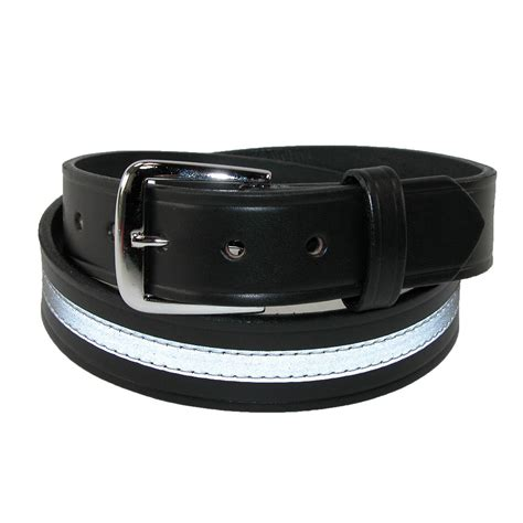mens leather 1 1 2 inch reflective work belt by boston
