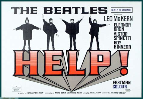 New York Wall Stickers actual beatles movie help 1965 theater lobby placard