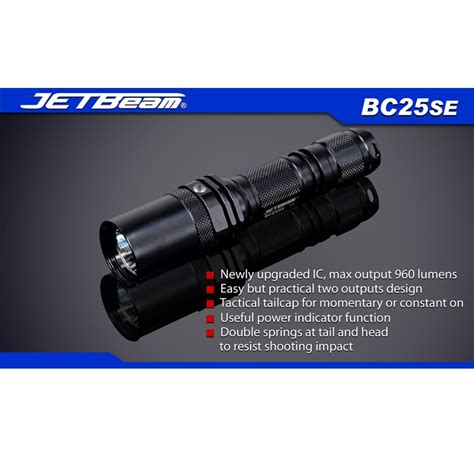 Senter Cree T6 jetbeam bc25se senter led cree xm l2 t6 960 lumens